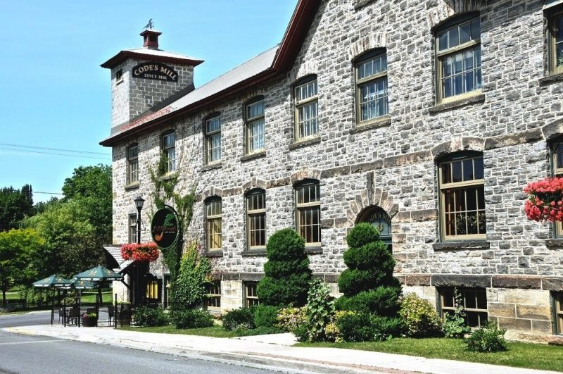 Historical buildings Code's Mill (1882) in Perth Ontario